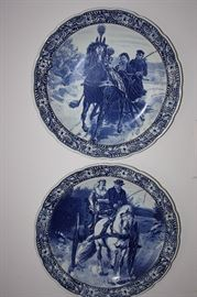 Pair of Large Delft 16 inch Chargers