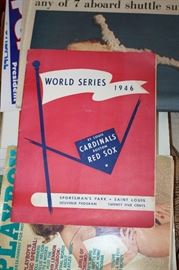 1946 WORLD SERIES PROGRAN CARDINAL / RED SOX