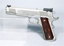 Springfield Armory 1911-A1 Trophy Match .45 Auto Pistol, SN# NM207081, Stainless Steel, Includes 2 Clips, Paperwork and Hard Case