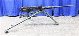 The Allied Armament Browning M2 (Ma Duece) .50 Cal Semi-Automatic Machine Gun SN#628024 with M3 Footed Tripod, Timing Gage, Head Space Gage