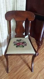 chair with embroidered seat
