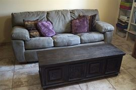 Couch & coffee table storage cabinet