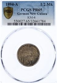 111German New Guinea 1894A 12 Mark PR65 PCGS
