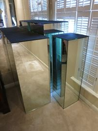 Mirrored Display Pedestals