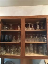 There is a varied selection of stemware for your every need! We have clear and colored stemware! Dress up your dining table!