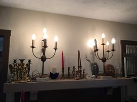 Candles enhance the mood.  We have a selection of beautiful candle holders and candelabras!