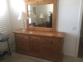 8 drawer dresser + mirror