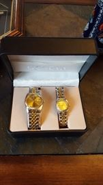 Pair of His and Hers Geneva Watches