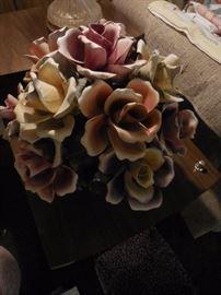 Capodomonte Italy Basket of Flowers