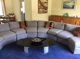 Wonderful sectional that was reupholstered about four years ago. This home has no pets, children, and it is a non-smoking home. Very comfortable and in great shape!