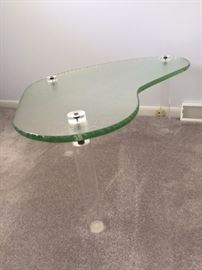 Unique glass and lucite table! In perfect shape!