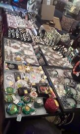 Awesome Sterling Gemstone rings (also Turquoise ,  Arizona Copper Turquoise, and other natural stones),  Sterling bracelets, necklaces, pendants, chains, pins & pearls + jade + costume also . *All gemstones are Presidium Gemstone Duo tested!
