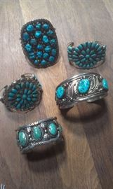 Sterling Navajo signed outrageous cuffs