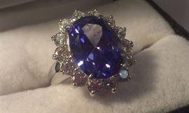 Genuine GiganticTanzanite Gemstone 925 ring, someone's going to be very happy!