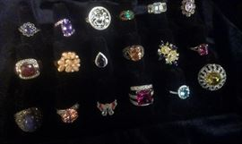 Countless Genuine Gemstone/925 rings, look throughout pictures for many more. This is tip of iceberg!!! *All Presidium tested varification