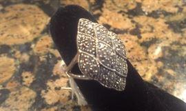 Genuine Pave Diamond Sterling Ring, Presidium tested