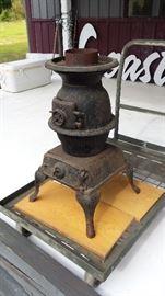 Vintage pot bellied stove