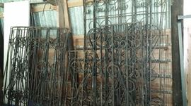100 year old wrought iron gates and fencr