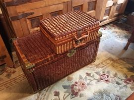 Woven Picnic Basket and Chest