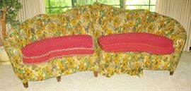 cool looking MCM sectional. Red is under the flower covers
