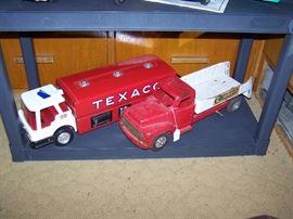 Toy Room Right  Texaco Tanker Truck, Buddy L Repair it service truck