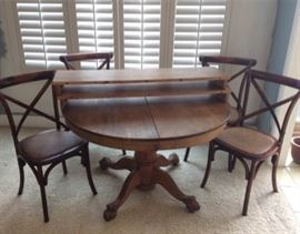 003 Claw foot Dining Table And Chairs