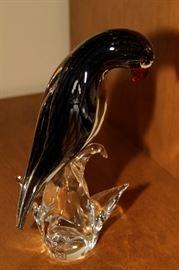 Murano Glass Parrot