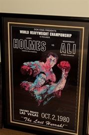 Holmes vs Ali 1980 Poster signed by Le Roy Neiman