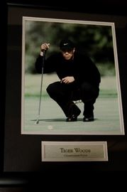 Signed Tiger Woods Photo