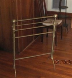 Brass blanket rack