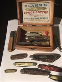 antique advertising, antique pocket knife collection
