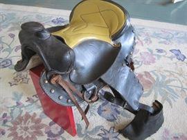 child's size leather saddle