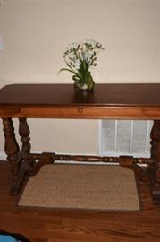 Antique Hall Table coverts to Dining Table, closed