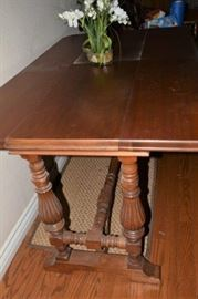 Antique Hall Table coverts to Dining Table, opened