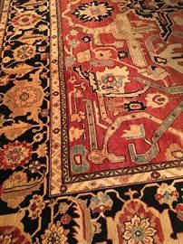 Persian Hand Knotted Rug  13 x 15
