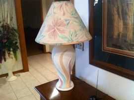PAIR OF PASTEL LAMPS $20 Each