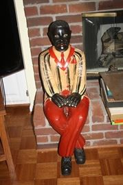 He is from a New Orleans bordello in the 1920's.  Yes, there is a wonderful story about this wood man!!!  He is great!!