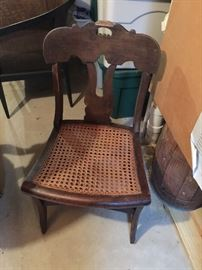 Three antique chairs