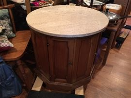 Marble top bar cabinet