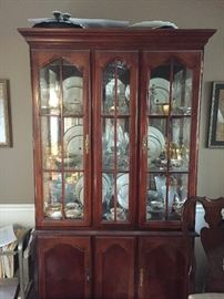 Cherry hutch in excellent condition.  Items inside not included, but several of them will be for sale as well!