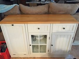 Cream cabinet--great for extra storage