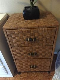 Bamboo mini dresser with three drawers