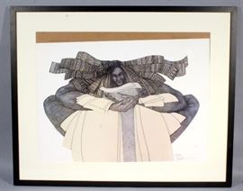 """Charles A Bibbs """"The Keeper"""" Limited Edition #1581/2000, Signed, Framed, Matted, Frame Measures 36""""H x 44""""W"""