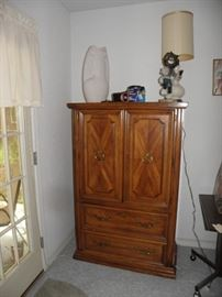 Armoire with bedroom suite, Kochina signed