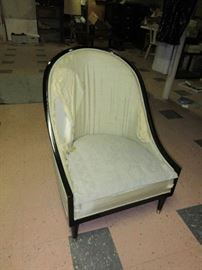 Pair of vintage slipper chairs