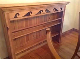 Pine Hutch Top only Nice wall unit/ plate rack
