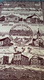 1876 custer county centennial community throw