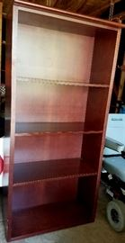 Cherry finish solid wood bookcase