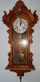 Key wind wall clock