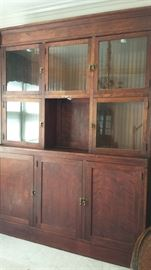Antique Mercantile cabinet - hutch, display,